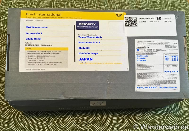 tipps deutsche post so verschickst du g nstig von deutschland nach japan wanderweib. Black Bedroom Furniture Sets. Home Design Ideas