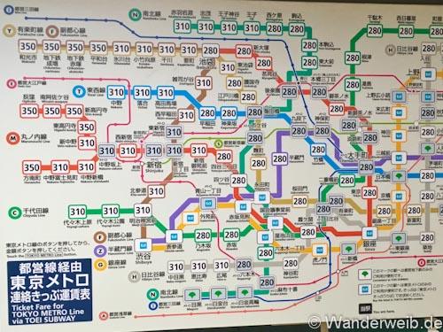 Tipps Tokio Anfahrt Nahverkehr Und Orientierung Wanderweib
